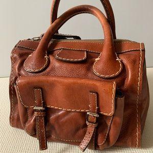Chloe brown leather medium handbag